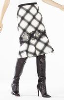 BCBGMAXAZRIA Dale Ombre Plaid Jacquard Flounce Skirt