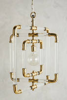 Anthropologie Brass-Capped Spinning Pendant