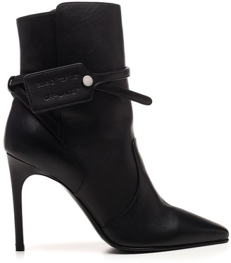 Off-White Pointed-Toe Ankle Boots