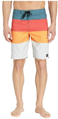 O'Neill 21 Santa Cruz Scallop 2.0 Boardshorts (Faded Red) Men's Swimwear