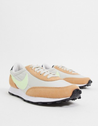 Nike Daybreak trainers in orange and fluro green