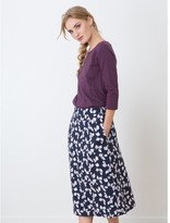 Somewhere Viscose full skirt with an exclusive Breeze print, HANGO