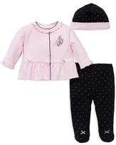 Little Me Infant Girls' Ballet Slipper & Polka Dot 3-Piece Set - Sizes Newborn-9 Months