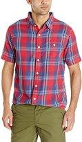 True Grit Men's Fire Plaid Short Sleeve Shirt