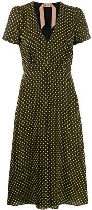 No.21 polka dot midi dress