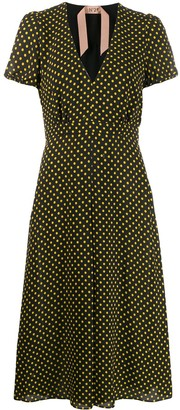 No.21 Polka Dot Midi Dress