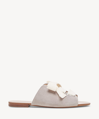 Sole Society Women's Marinn Lace Up Flat Sandals Coral Dust Cream Dust, Size 5 Suede From