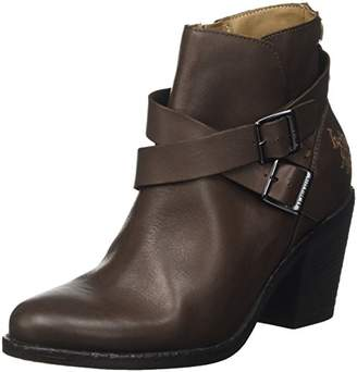 U.S. Polo Assn. Women's Sylvie Ankle Boots, Brown (Dark Brown DKBR)