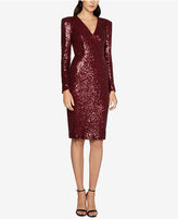 Fame and Partners Open-Back Sequined Sheath Dress