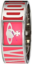 Vivienne Westwood Women's VV084PK Bond Analog Display Swiss Quartz Silver Watch