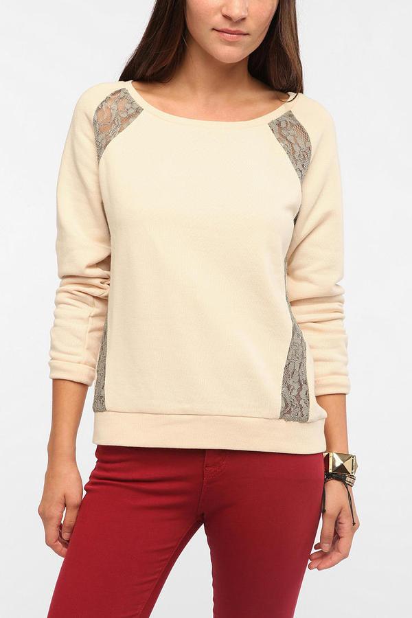 Silence & Noise Lace Inset Sweatshirt