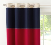 """Pottery Barn Kids Rugby 44 x 63"""" Blackout Panel, Navy/Red"""