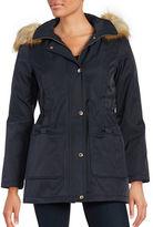 Kate Spade Faux Fur-Trimmed Anorak Coat