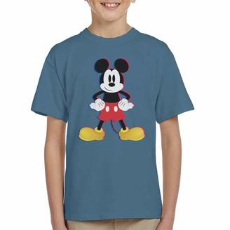 Disney Mickey Mouse 3D Effect Pose Kid's T-Shirt Indigo Blue