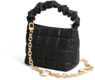 """House of Want """"H.O.W."""" We Brunch Mini Tote In Black Quilt"""