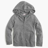 J.Crew Kids' Italian cashmere zip-front hoodie
