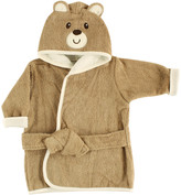 Luvable Friends Boys' Bath Robes Brown - Brown Bear Hooded Robe - Newborn