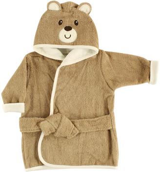 Luvable Friends Boys' Bath Robes Brown - Brown Bear Hooded Robe - Newborn