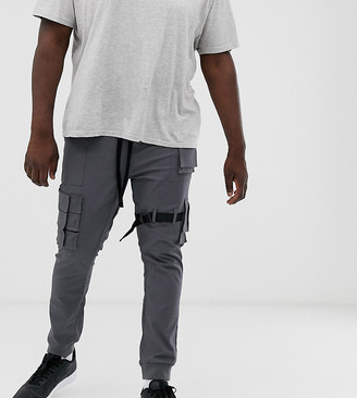 Asos DESIGN Plus slim ankle grazer cargos with cuff & utility details