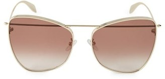 Alexander McQueen 63MM Butterfly Sunglasses