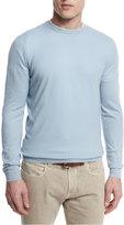Loro Piana Baby Cashmere Crewneck Sweater, Stone Cascade