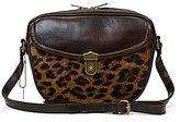 Patricia Nash Lia Leopard-Print Oval Haircalf Cross-Body Bag