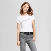 Mossimo Women's Graphic Baby T-Shirt White