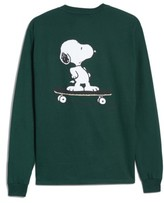 Hanes Peanuts Snoopy Skate Long Sleeve T-Shirt