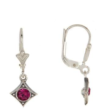 Argentovivo Sterling Silver Diamond Shaped Dangle Earrings
