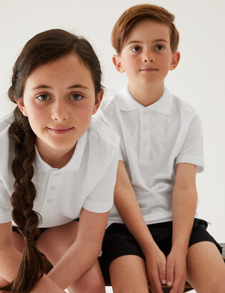 Marks and Spencer 2pk Unisex Adaptive School Polo Shirts
