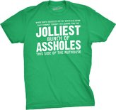 Crazy Dog T-shirts Crazy Dog Tshirts Jolliest Bunch of A-holes Funny Christmas Holiday Family T shirt - 2XL