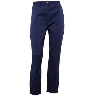 Onfire Womens Twill Chino Trousers Navy
