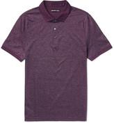Michael Kors Slim-fit Cotton-jacquard Polo Shirt