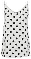 Dorothy Perkins Womens Ivory Spot Print Mono Camisole Top, Ivory