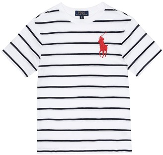 Polo Ralph Lauren Kids Striped cotton-jersey T-shirt