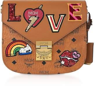 MCM Patricia Love Patch Small Shoulder Bag