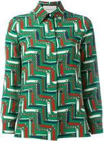 Gucci printed shirt - women - Silk - 38