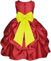 ekidsbridal Wedding Pageant Christmas Apple Red Pick-up Kid Flower Girl Dress 208t