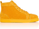 Christian Louboutin Men's Louis Orlato Suede Sneakers-YELLOW, ORANGE