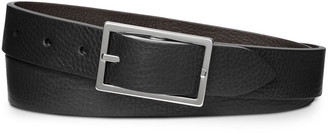 Shinola Men's Reversible Rectangular-Buckle Leather Belt