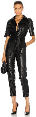 Jonathan Simkhai Maddy Vegan Leather Flight Suit in Black | FWRD