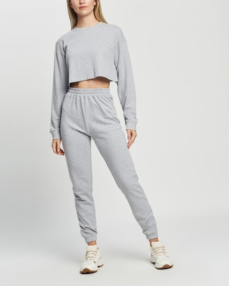 Missguided Crop Sweat & Jogger Co-Ord Set