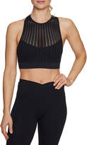 Betsey Johnson Slashed Mesh Racerback Sports Bra