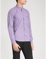 The Kooples Tablecloth-patterned slim-fit cotton shirt