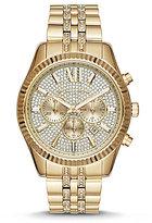 Michael Kors Lexington Pave Chronograph & Date Bracelet Watch