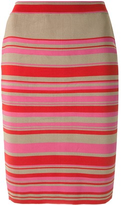 Eva Knitted striped pencil skirt