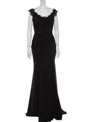 Marchesa 2020 Long Dress w/ Tags Black