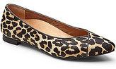 Vionic WALK.MOVE.LIVE Vionic® Caballo Leopard-Print Calf Hair Slip-On Pointed Toe Flats