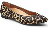 Vionic WALK.MOVE.LIVE Vionic Caballo Leopard-Print Genuine Calf Hair Pointed Toe Flats