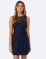 Forever New Lillian Lace Tiered Mini Dress